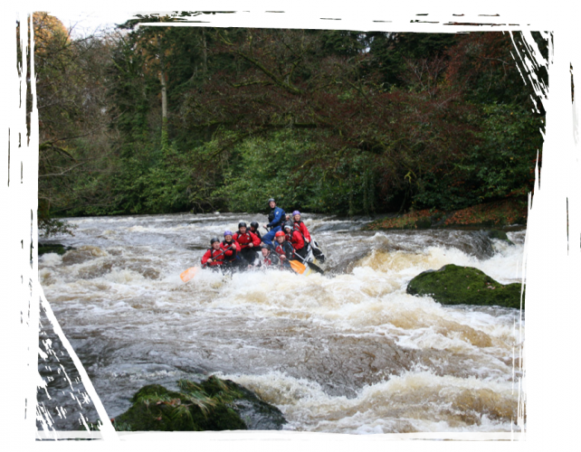 rough white water rafting wales